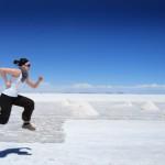 Salar de Uyuni - Running on Air - By Robert Brodey