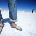 The Vibram Fivefingers give an upclose and personal connection with the earth.  Photo by Robert J. Brodey