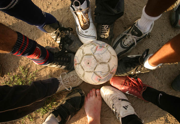 A meeting of the feet every Sunday brings fitness and community together. Photo by Robert J. Brodey