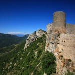The Magnificent ruins of Peyrepertuse.  Photo by Robert J. Brodey