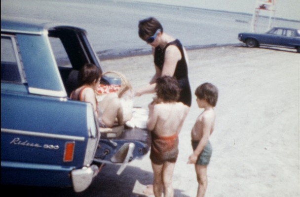 Wasaga with my sibs, 1970.